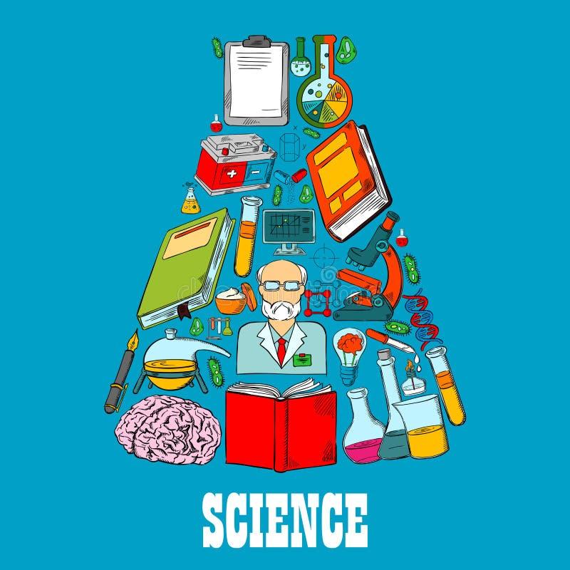 化学传染媒介科学象烧瓶象征  向量例证