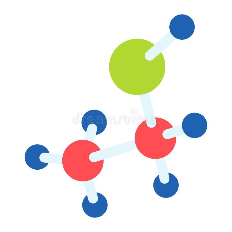 化学分子象,平的样式 皇族释放例证
