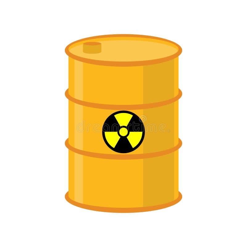 化学制品废黄色桶 毒性废物小桶 毒液体 向量例证
