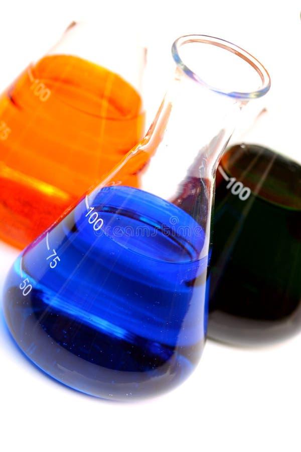 化学制品烧瓶玻璃 免版税库存照片
