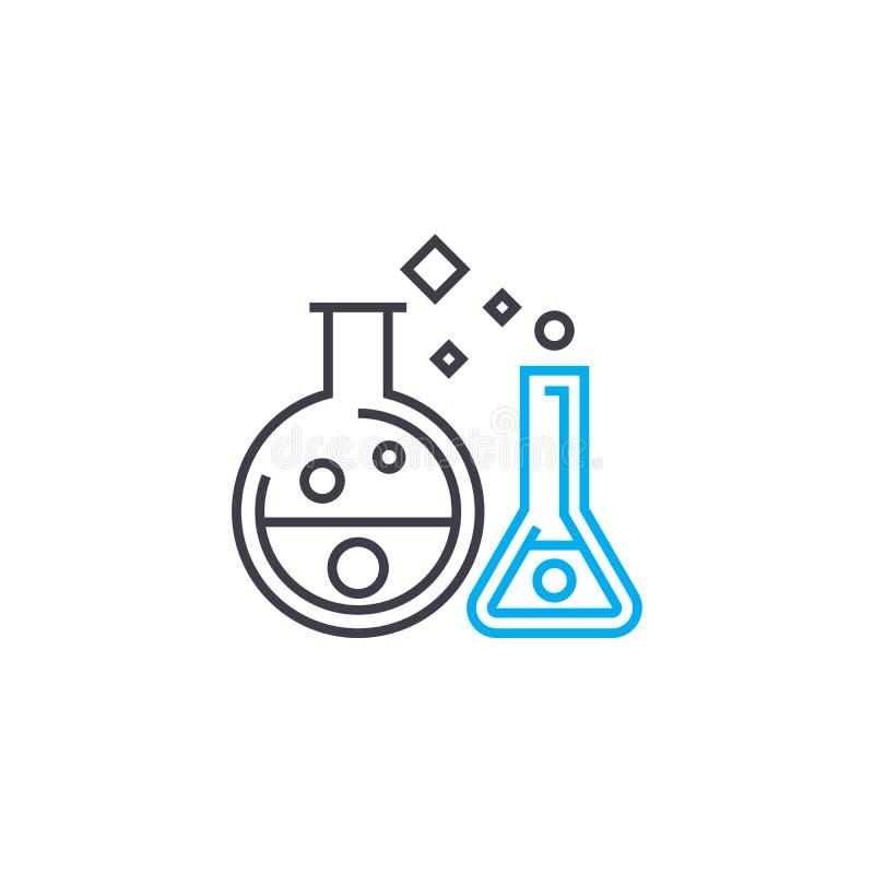 化学制品试验线性象概念 化学制品试验线传染媒介标志,标志,例证 皇族释放例证