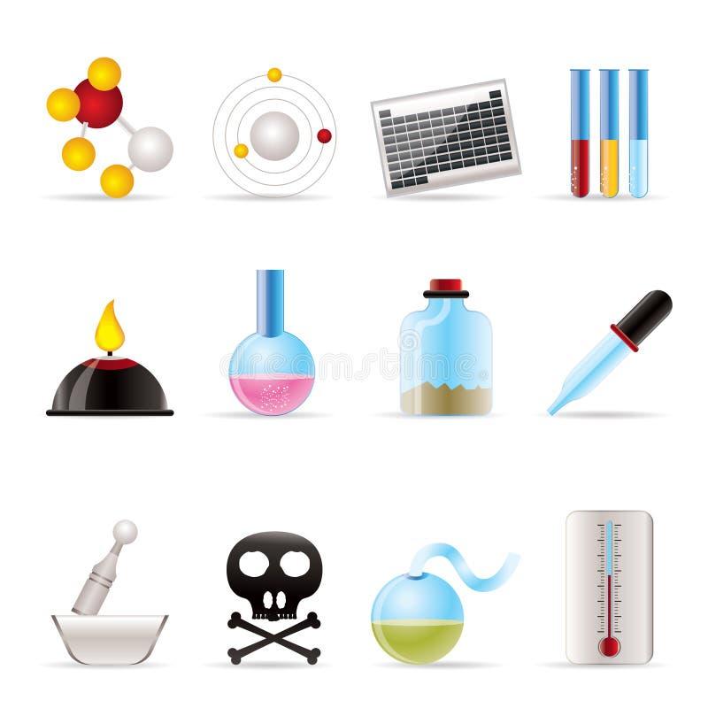 化学图标行业 向量例证