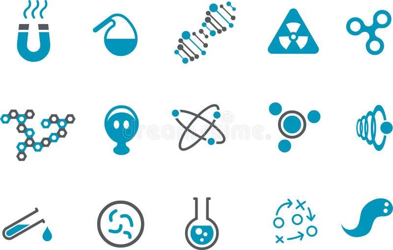 化学图标集 皇族释放例证