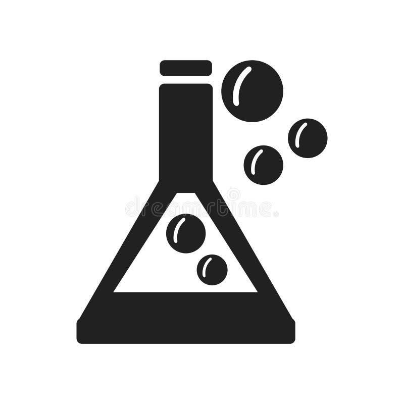 化学在白色背景隔绝的象传染媒介,化学si 向量例证