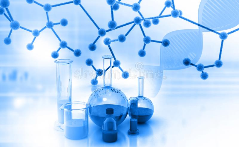 化学实验室或研究 库存图片