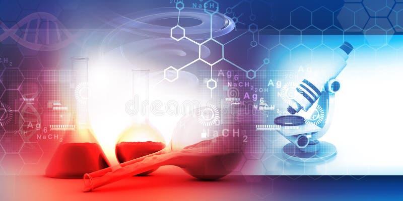 化学实验室概念 库存例证