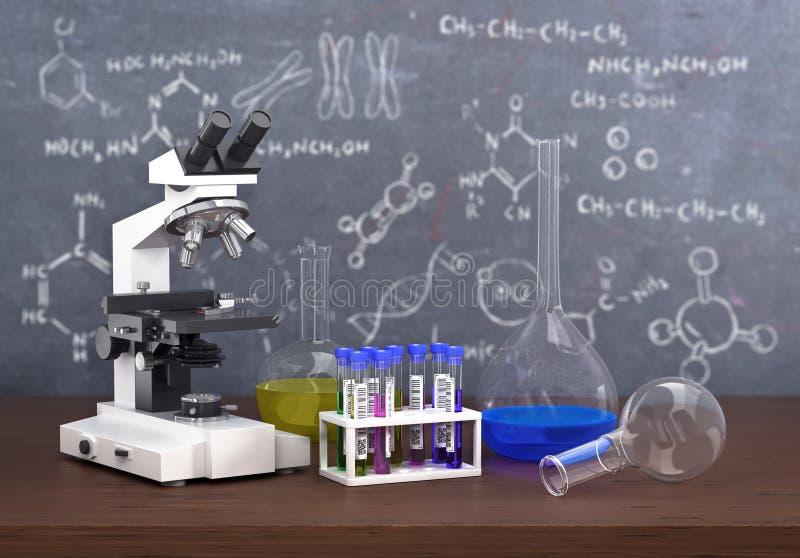 化学实验室概念 库存图片