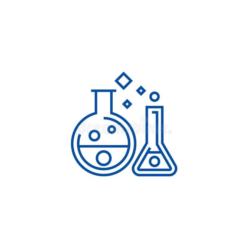 化学实验室,实验排行象概念 化学实验室,实验平的传染媒介标志,标志,概述例证 皇族释放例证