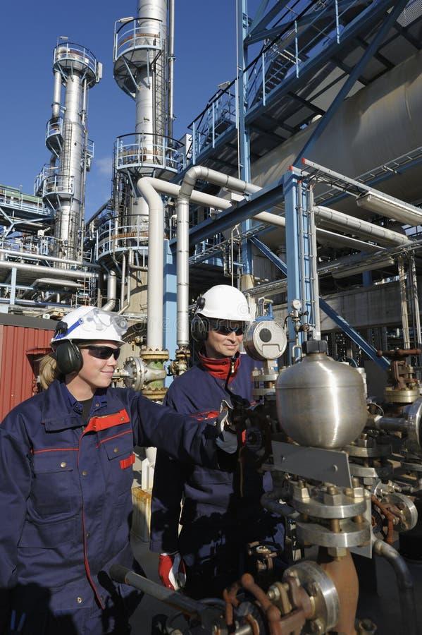 化学工程师气油 免版税库存照片