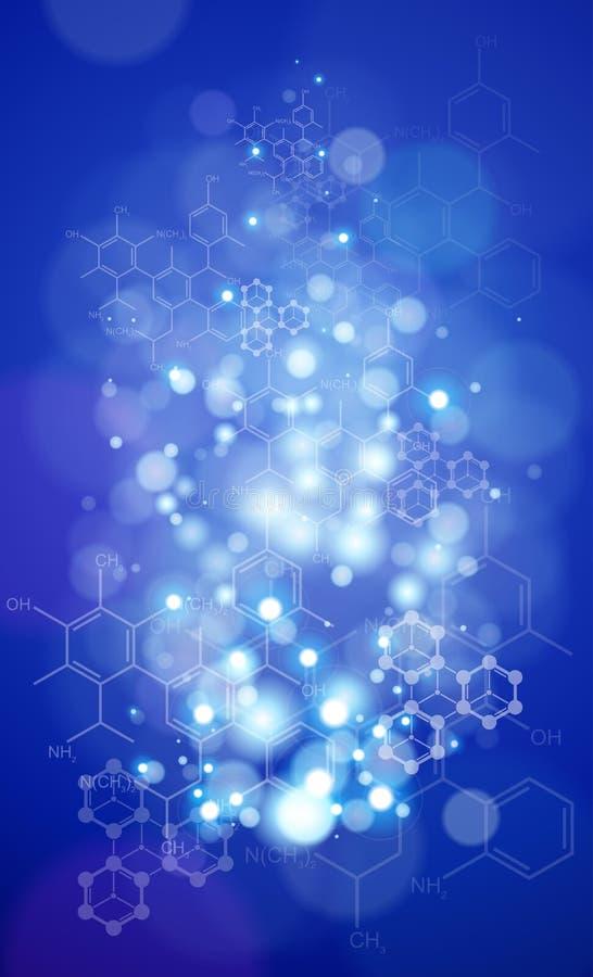 化学式&光 库存例证