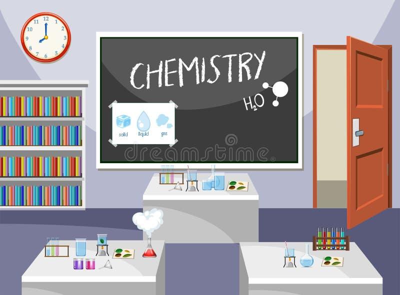 化学教室内部  库存例证
