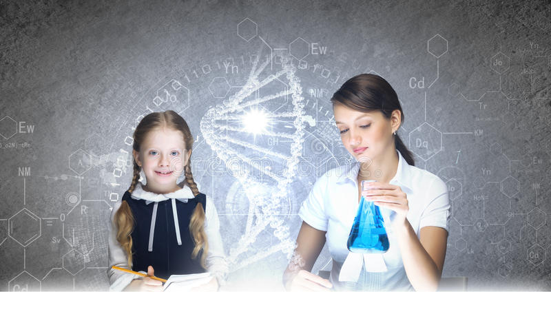 化学教训 库存照片