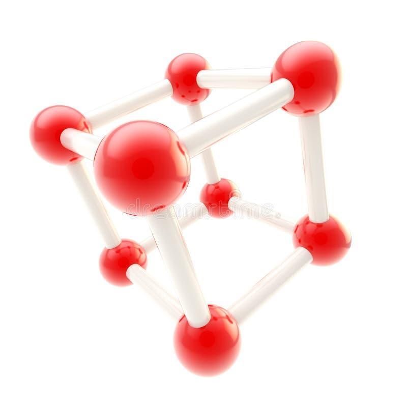化学查出的科学符号 库存例证