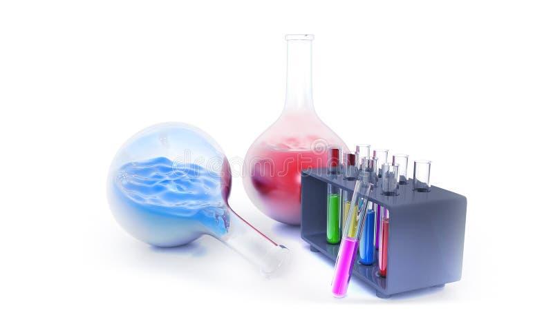 化学游移的设备 向量例证
