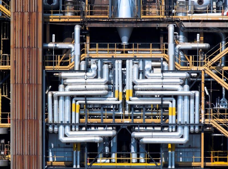 化学用管道输送精炼厂 免版税库存图片