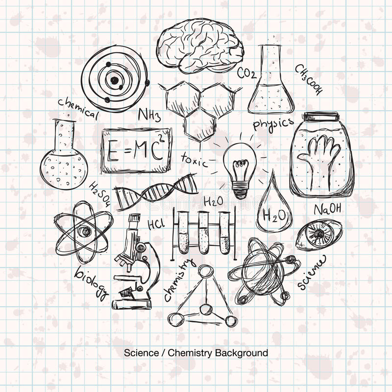 化学科学背景 向量例证