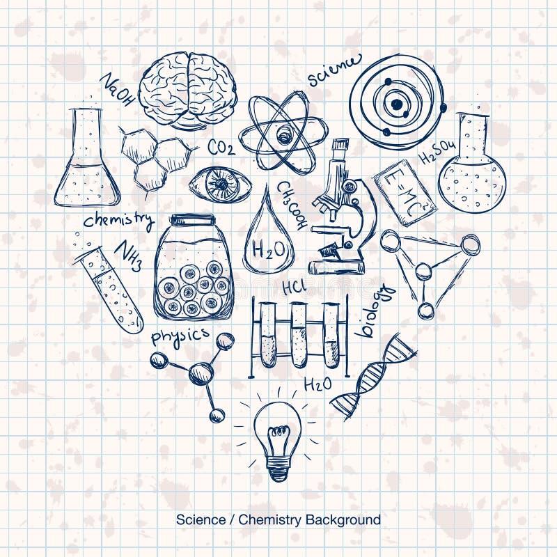 化学科学背景 库存例证