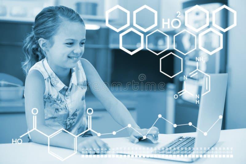 化学结构的数字图象的综合图象 免版税库存照片