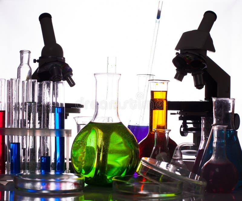 化学设备reseach 免版税库存照片