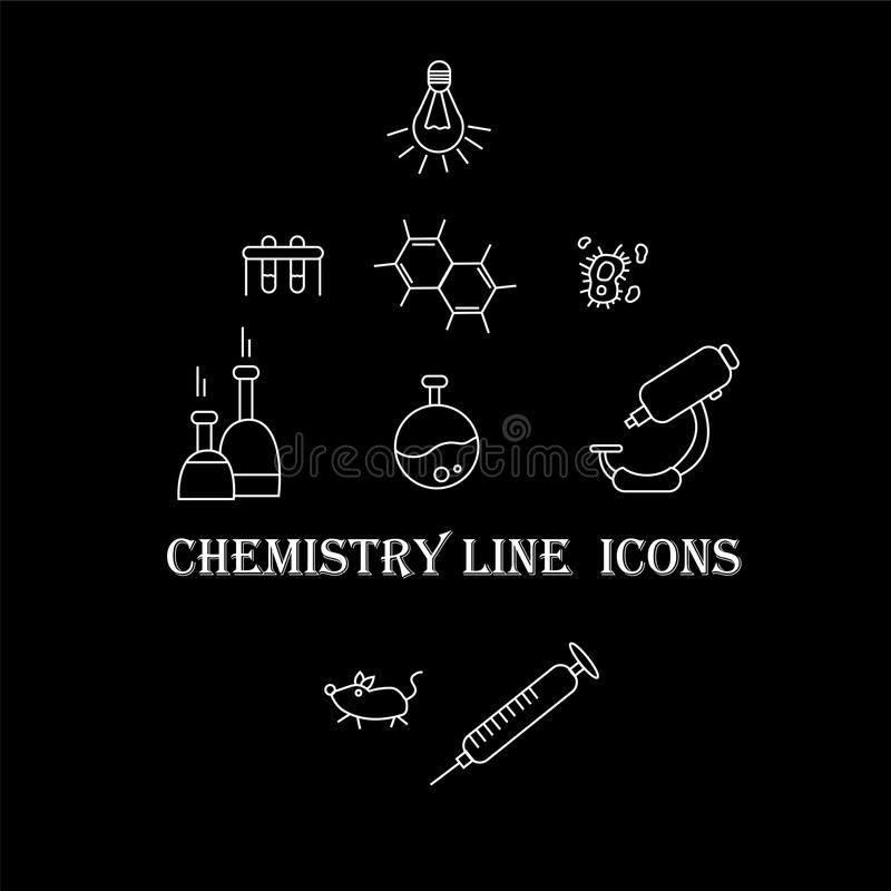 化学象科学  库存例证