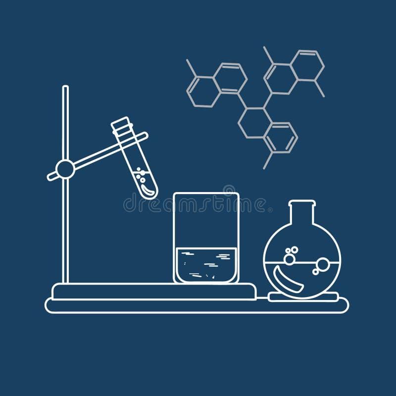 化学象 也corel凹道例证向量 图库摄影