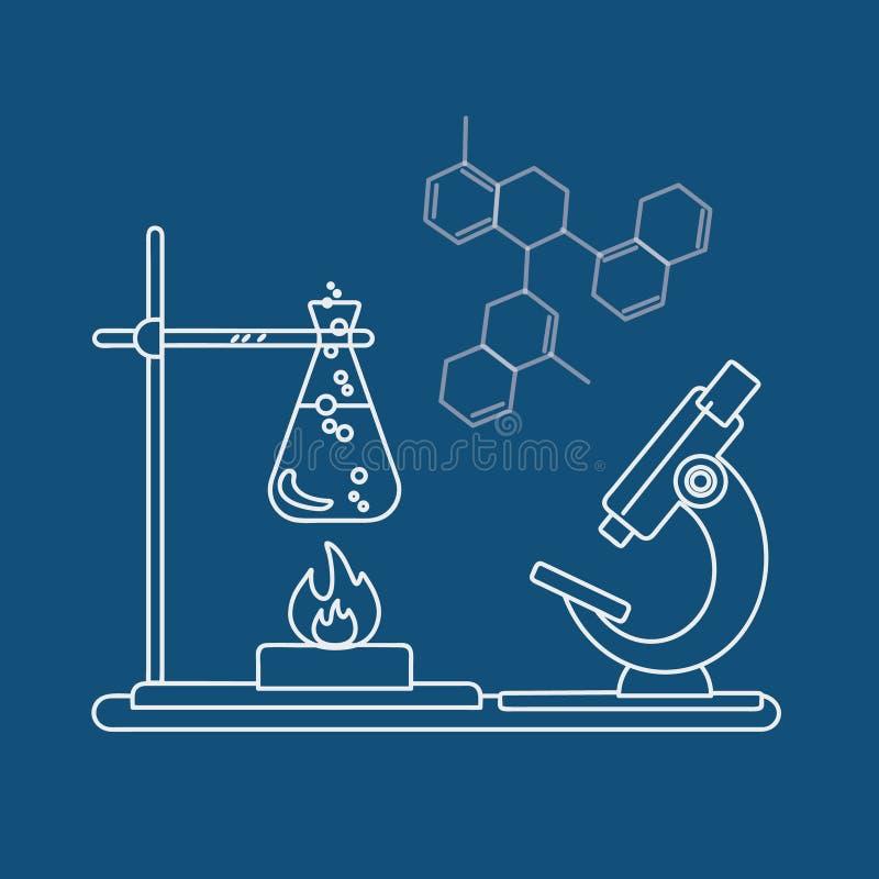化学象 也corel凹道例证向量 免版税图库摄影