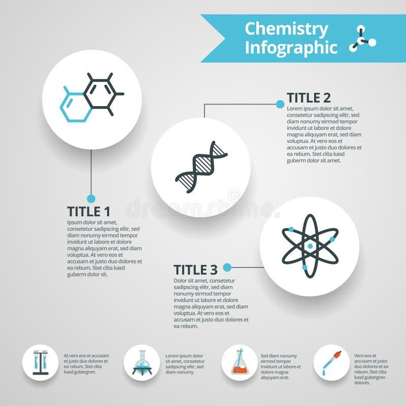 化学infographics集合 库存例证