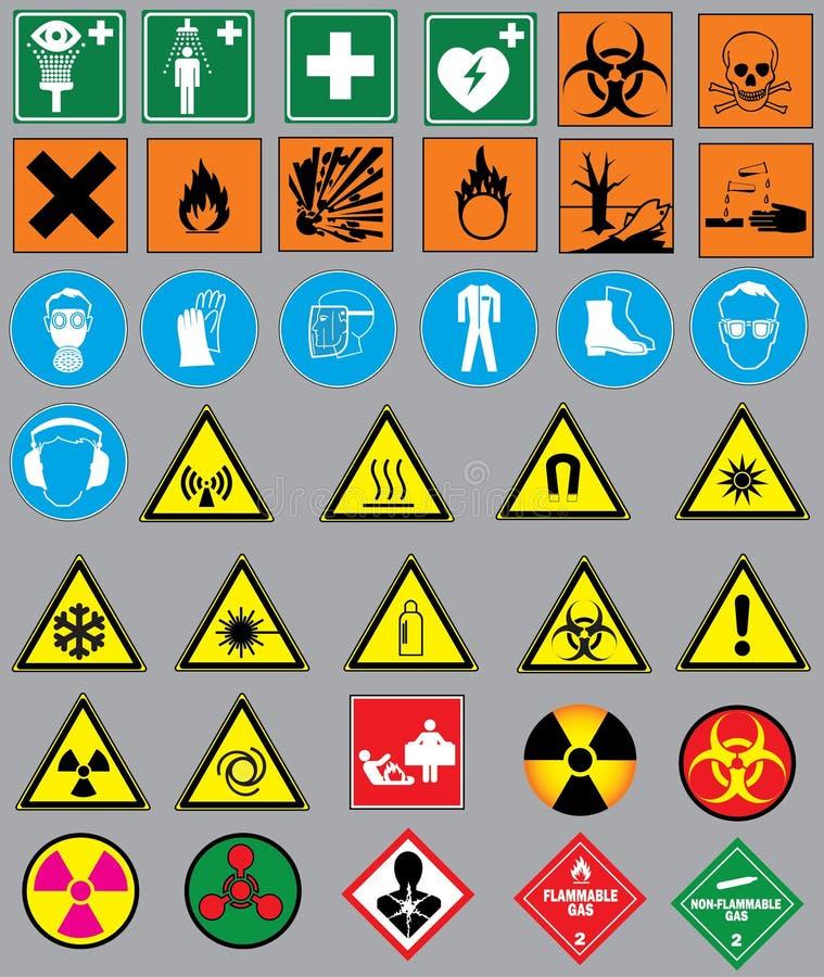 化学simbols 向量例证
