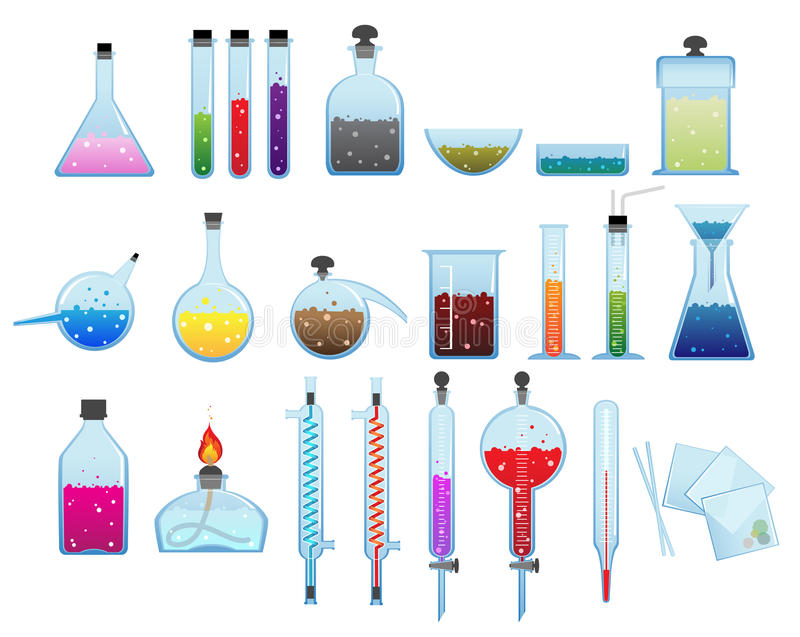 化工实验室商品 皇族释放例证