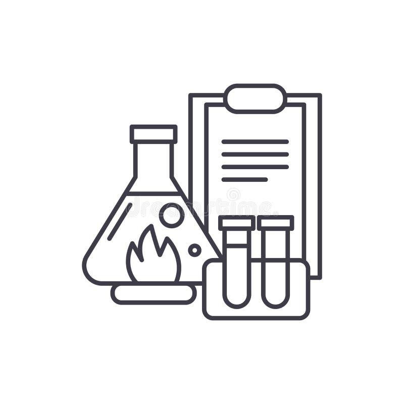 化工实验排行象概念 化工实验导航线性例证,标志,标志 库存例证