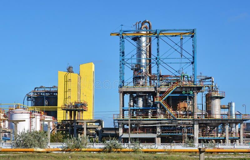 化工工厂油 免版税图库摄影