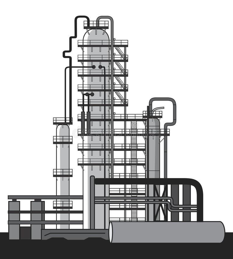 化工工厂油 皇族释放例证