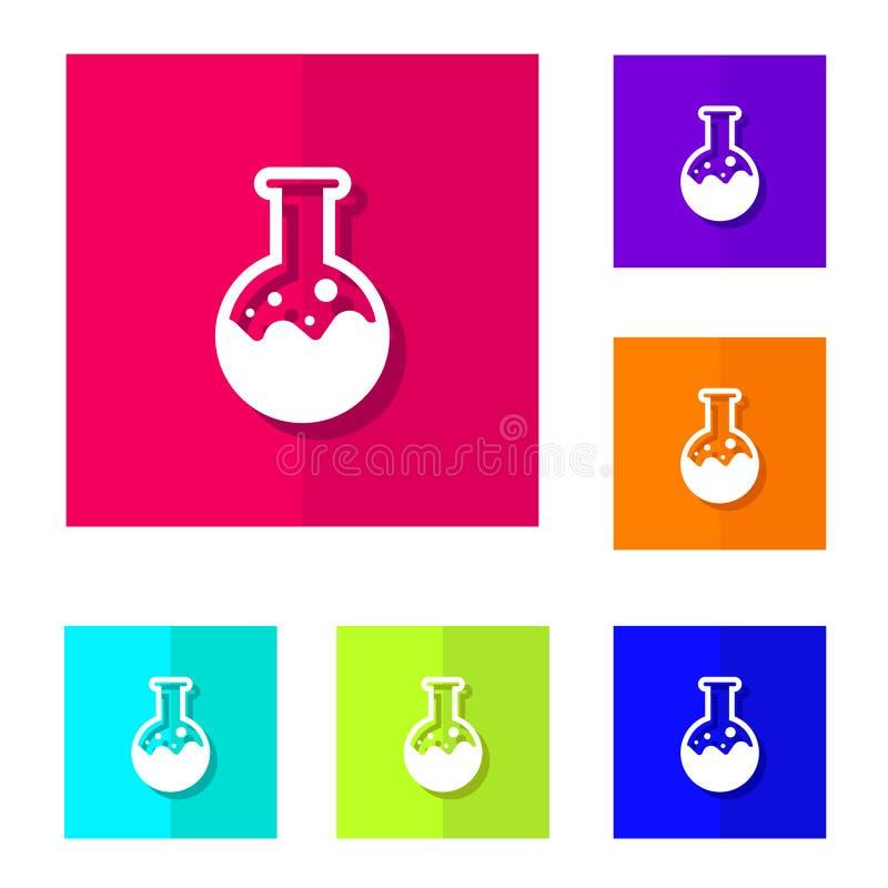 化工方术化学按钮 皇族释放例证