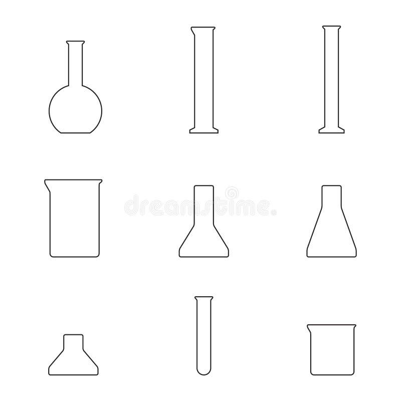 化工设备玻璃象 向量例证