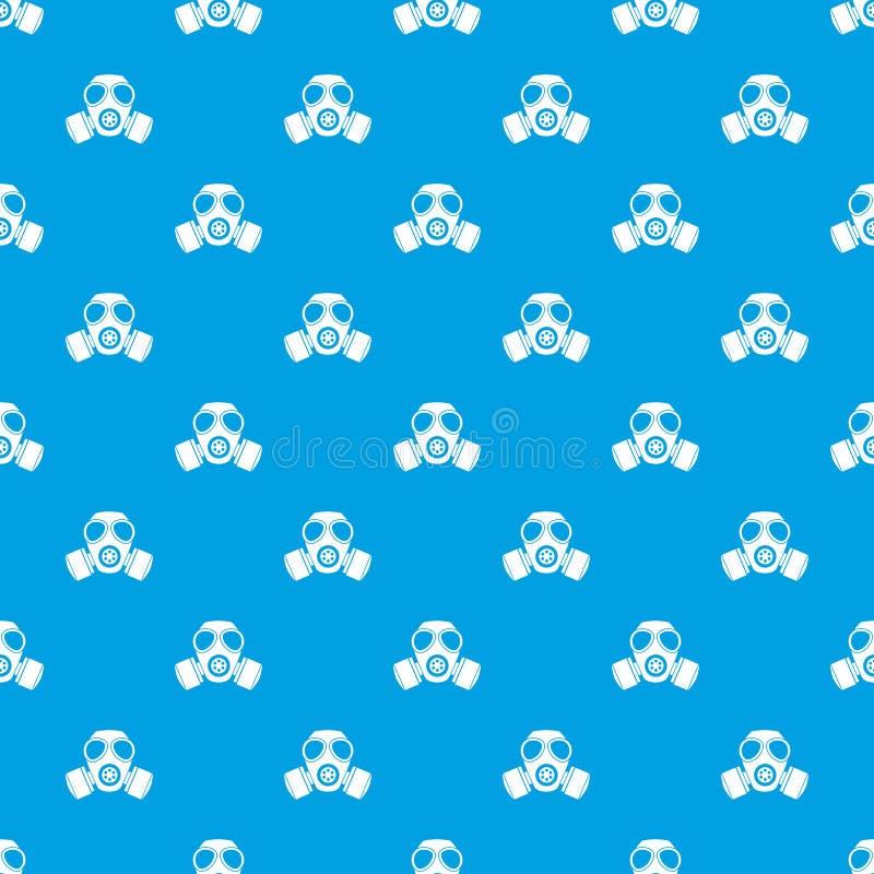 化工防毒面具样式无缝的蓝色 库存例证