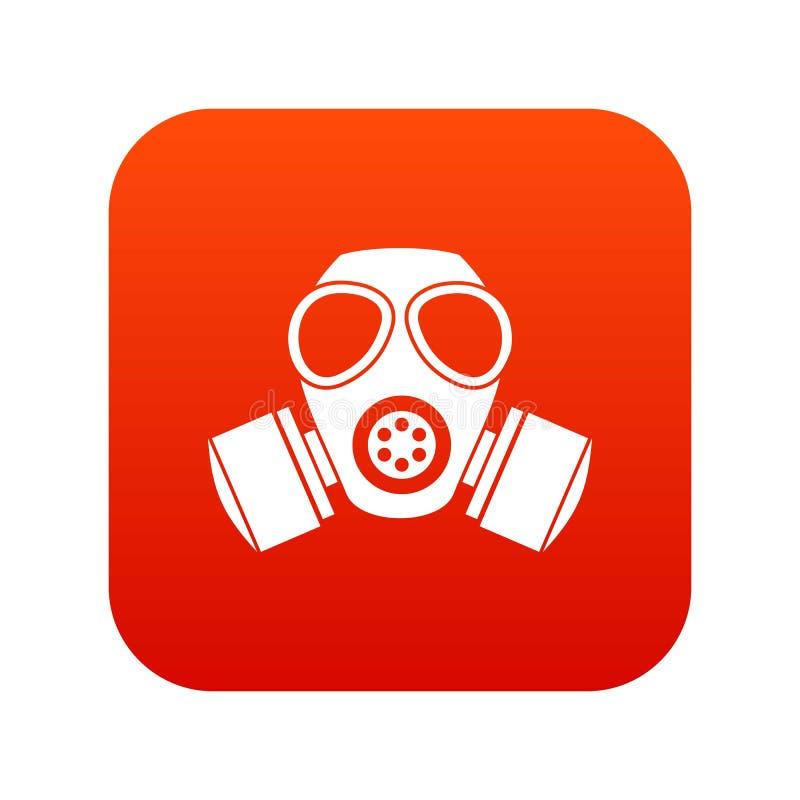 化工防毒面具象数字式红色 库存例证