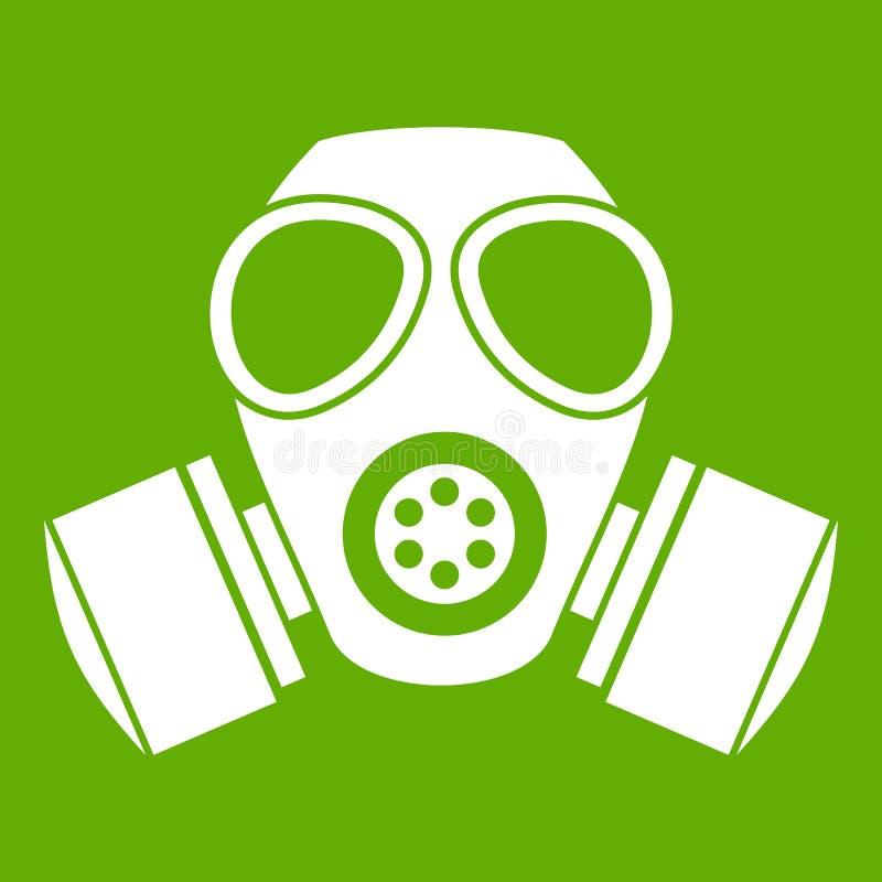 化工防毒面具象绿色 皇族释放例证