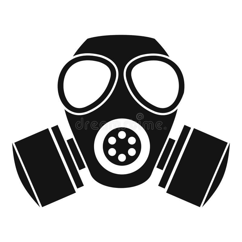 化工防毒面具象,简单的样式 皇族释放例证