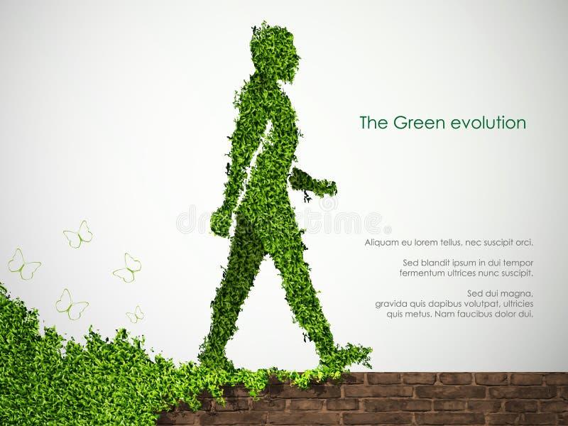 绿化的概念的演变 向量例证