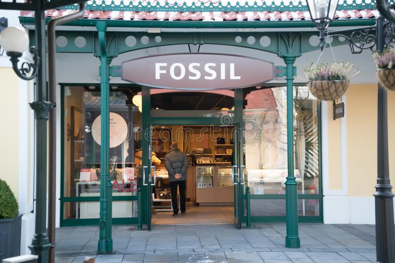 化石商店在Parndorf,奥地利 库存照片