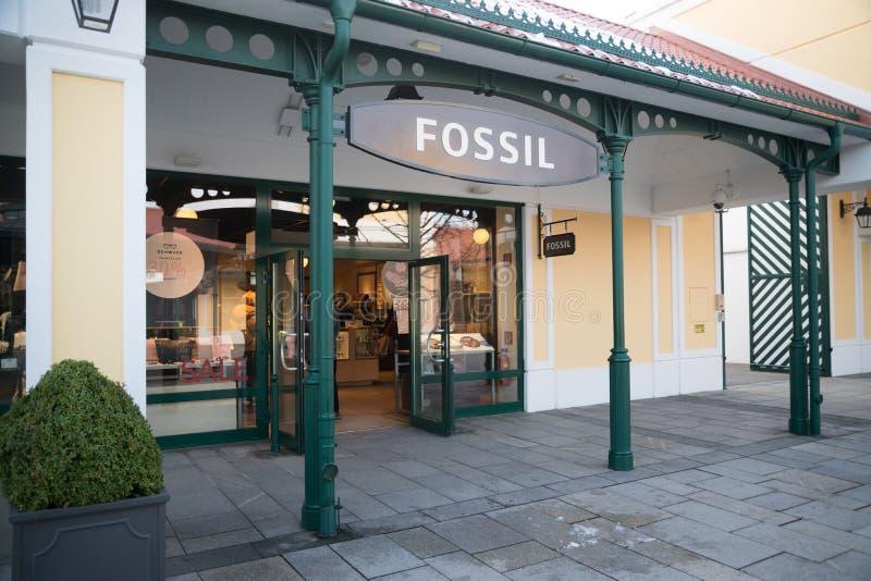化石商店在Parndorf,奥地利 库存图片