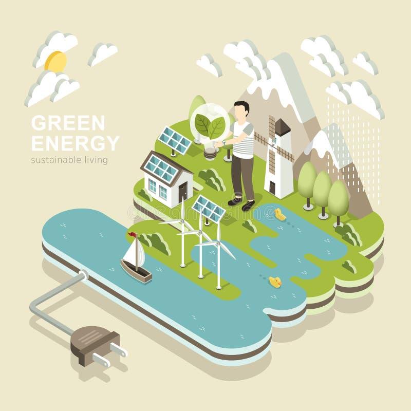 绿化能源 皇族释放例证