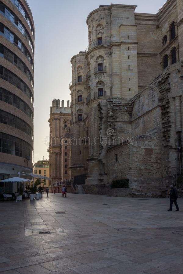 化身的大教堂在马拉加,西班牙,欧洲 免版税库存照片