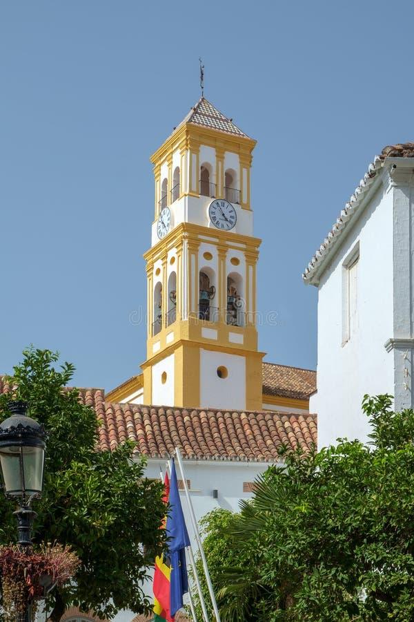 化身的教会,马尔韦利亚奥尔德敦,西班牙 免版税库存图片
