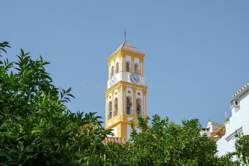 化身的教会,马尔韦利亚奥尔德敦,西班牙 免版税图库摄影