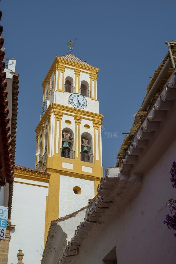 化身的教会,马尔韦利亚奥尔德敦,西班牙 库存照片