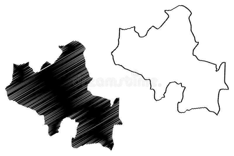 北中省,斯里兰卡管理部门,民主党社会主义斯里兰卡共和国,锡兰地图传染媒介 库存例证