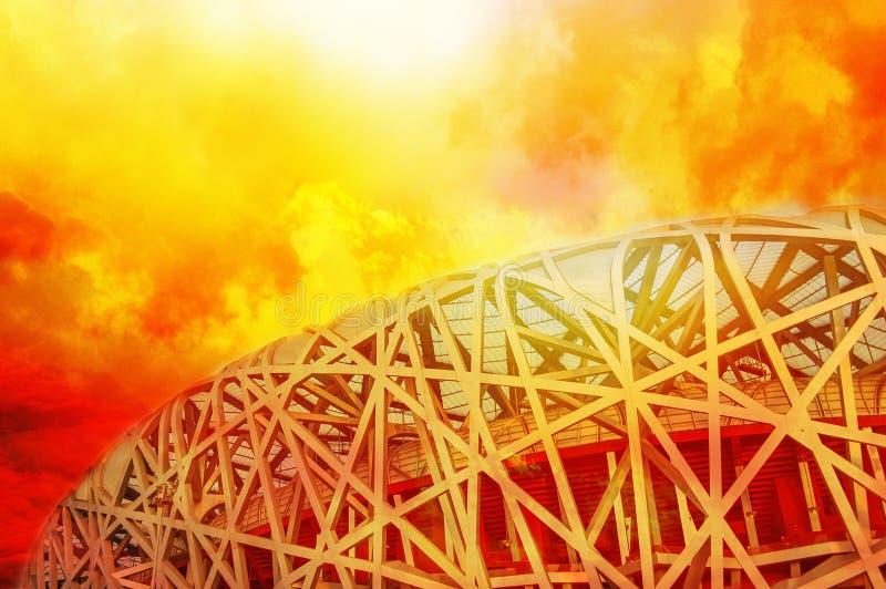 北京全国奥林匹克Stadiumï ¼ ŒBird s巢 库存图片
