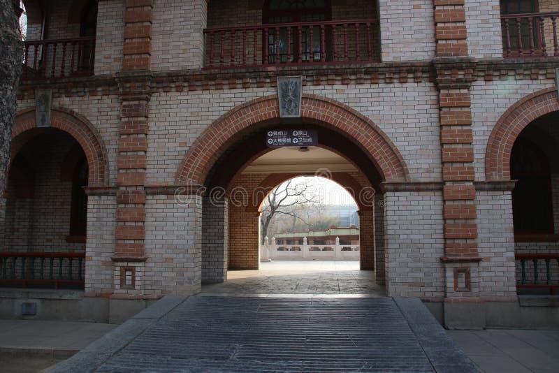 北京动物园,中国入口  免版税库存照片