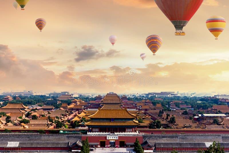 北京古老大厦奥斯陆王宫 免版税库存图片